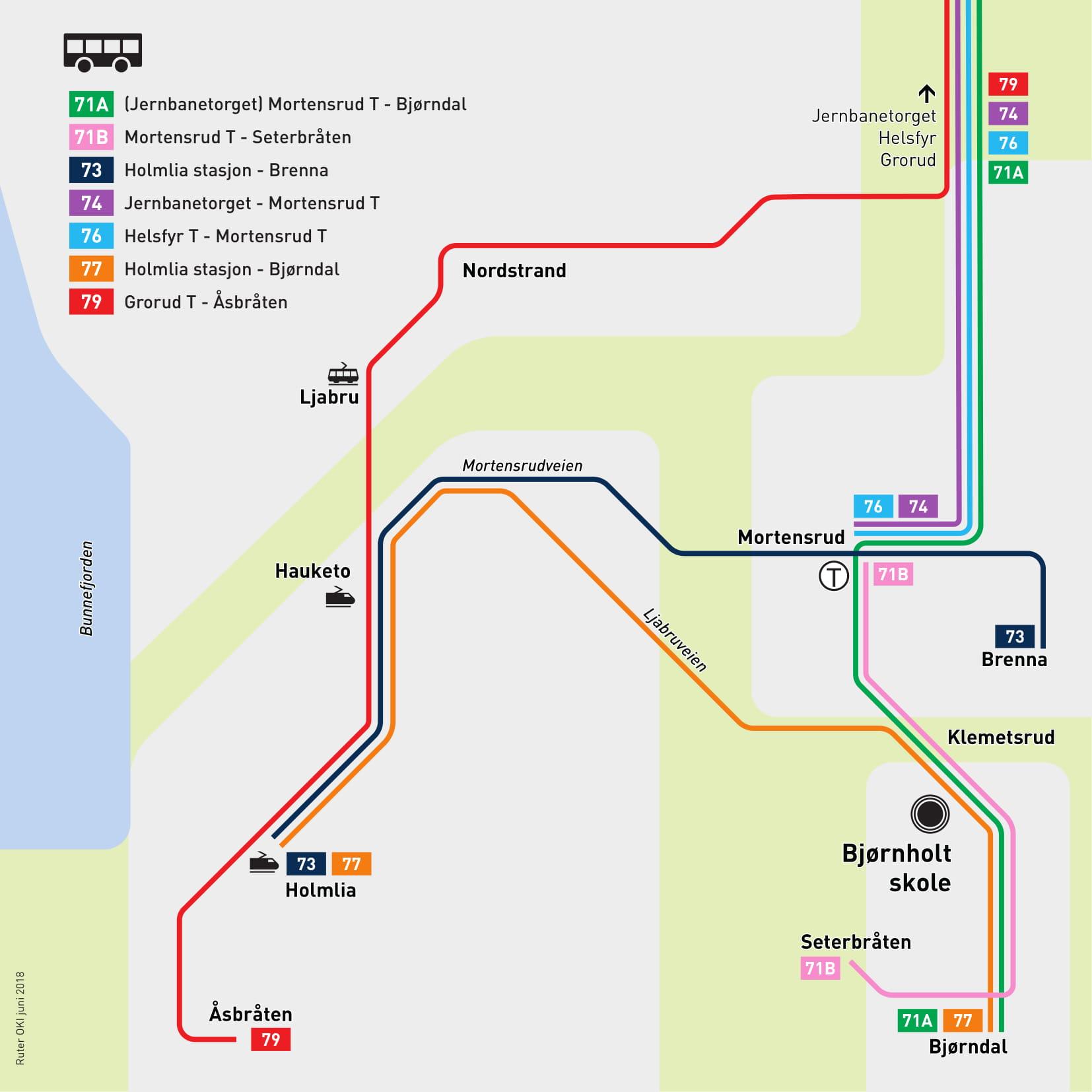 bjørnholthallen kart Direkte skolebuss til Bjørnholt Vgs bjørnholthallen kart